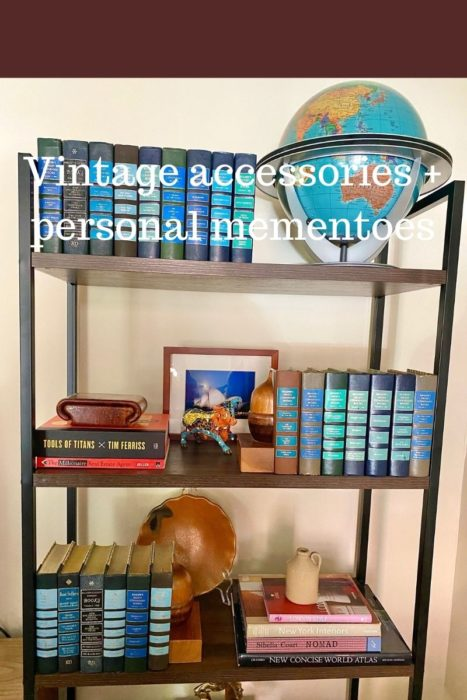 Bookshelf Styling Personal Mementoes