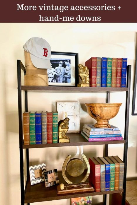 Bookshelf Styling With Vintage Accessories