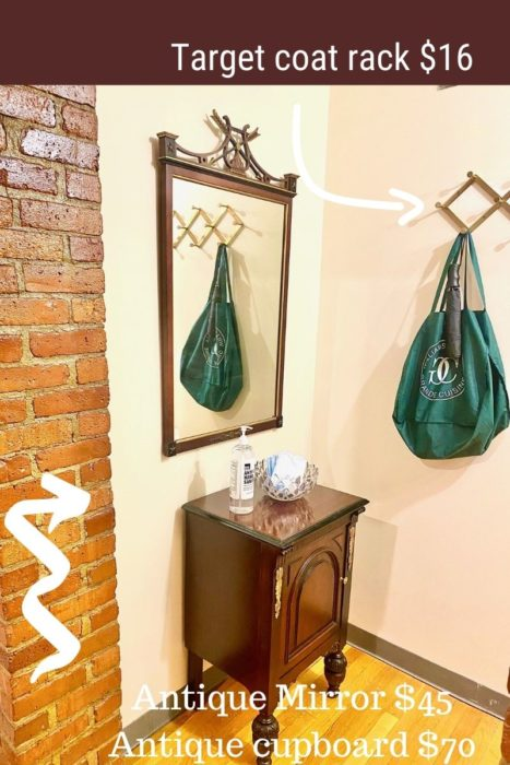 Entry Hall Foyer Antique Cupboard And Mirror Coat Rack