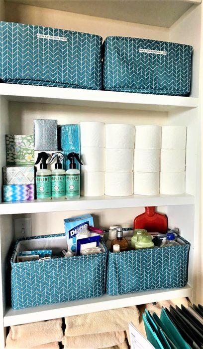 Bookshelf Inspiration Linen Medicine Closet