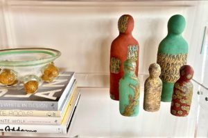 Bookshelf Styling Inspiration With Pottery Art