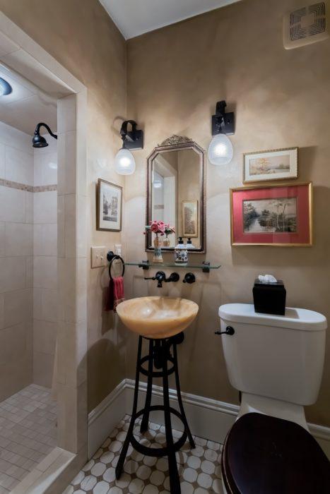 Gold Faux Paint Bathroom Walls