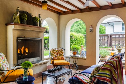 Spanish Loggia Outdoor Porch Arched Openings