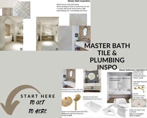 Master Bath Tile & Plumbing Inspo