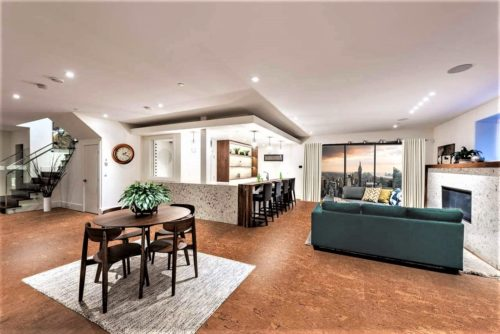 Cork Floors Living Room Kitchen