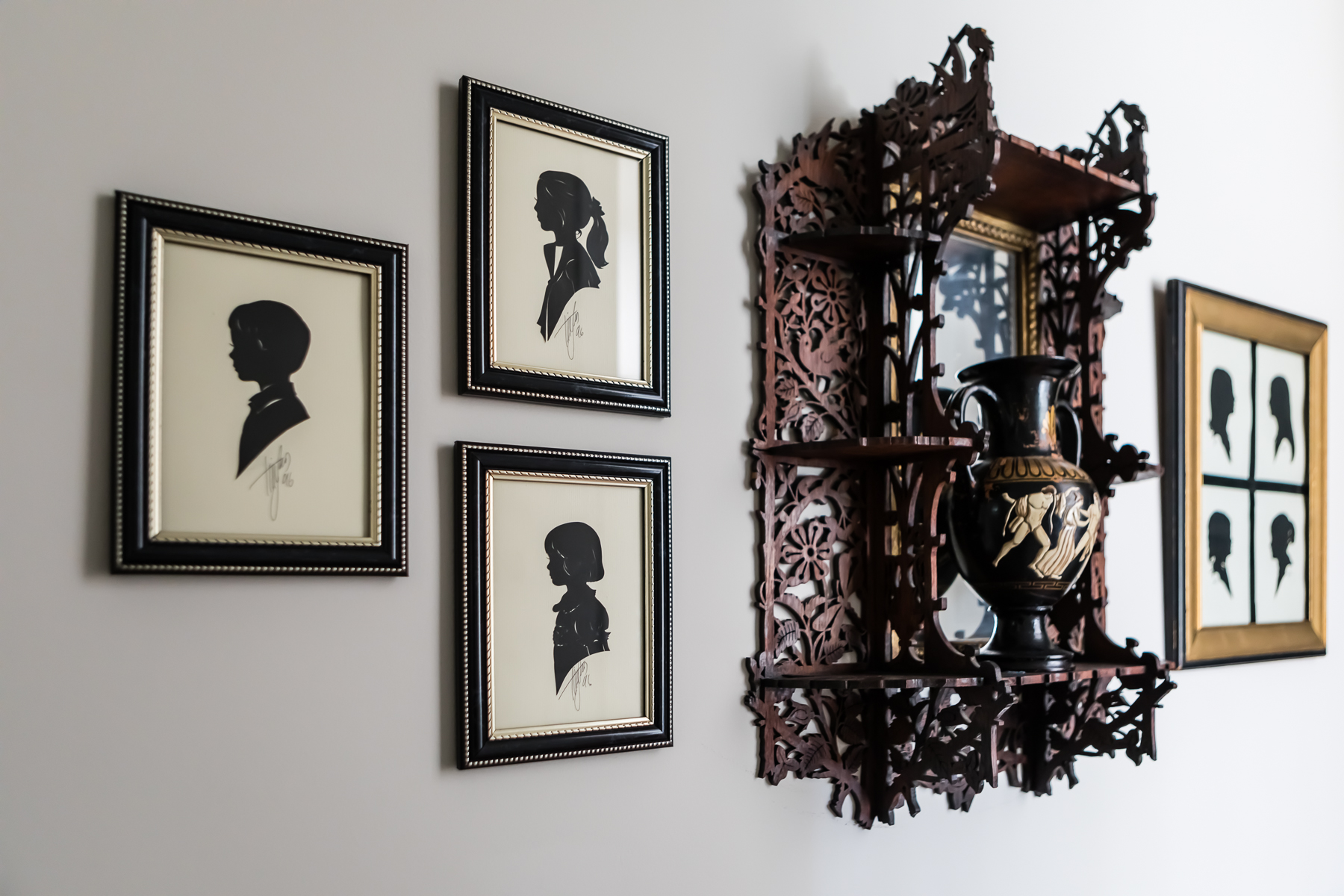 Antique Silhouettes Wall Art Display