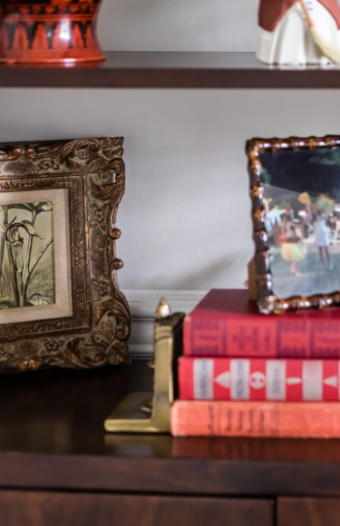 Bookshelf Styling Details