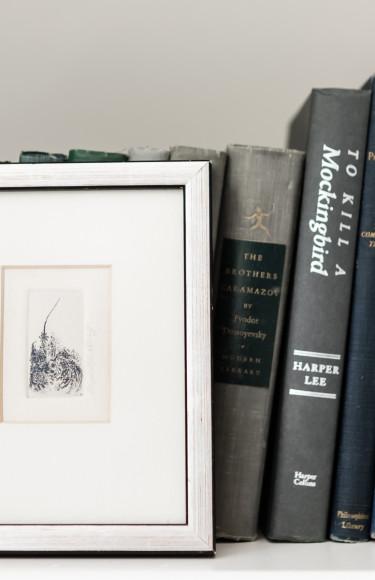 Bookshelf Styling With Art