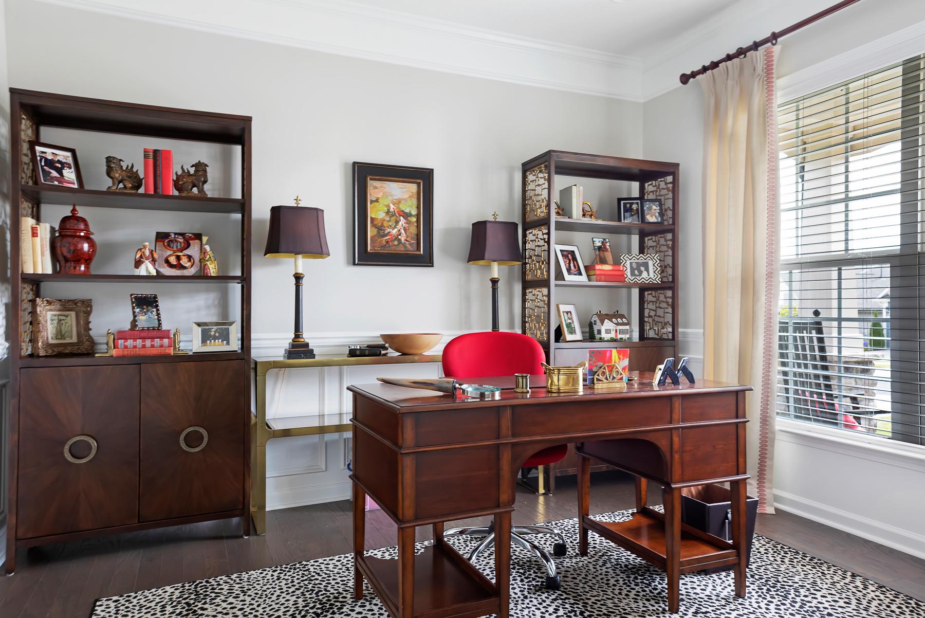 Female Home Office Elegant Space Leopard Rug