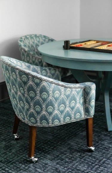 Game Table Chair Fabric Detail