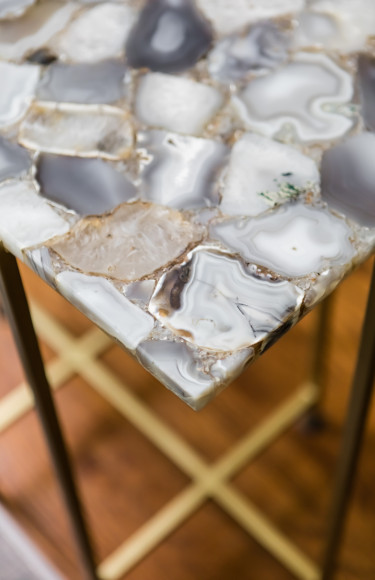 Geode Natural Stone Side Table