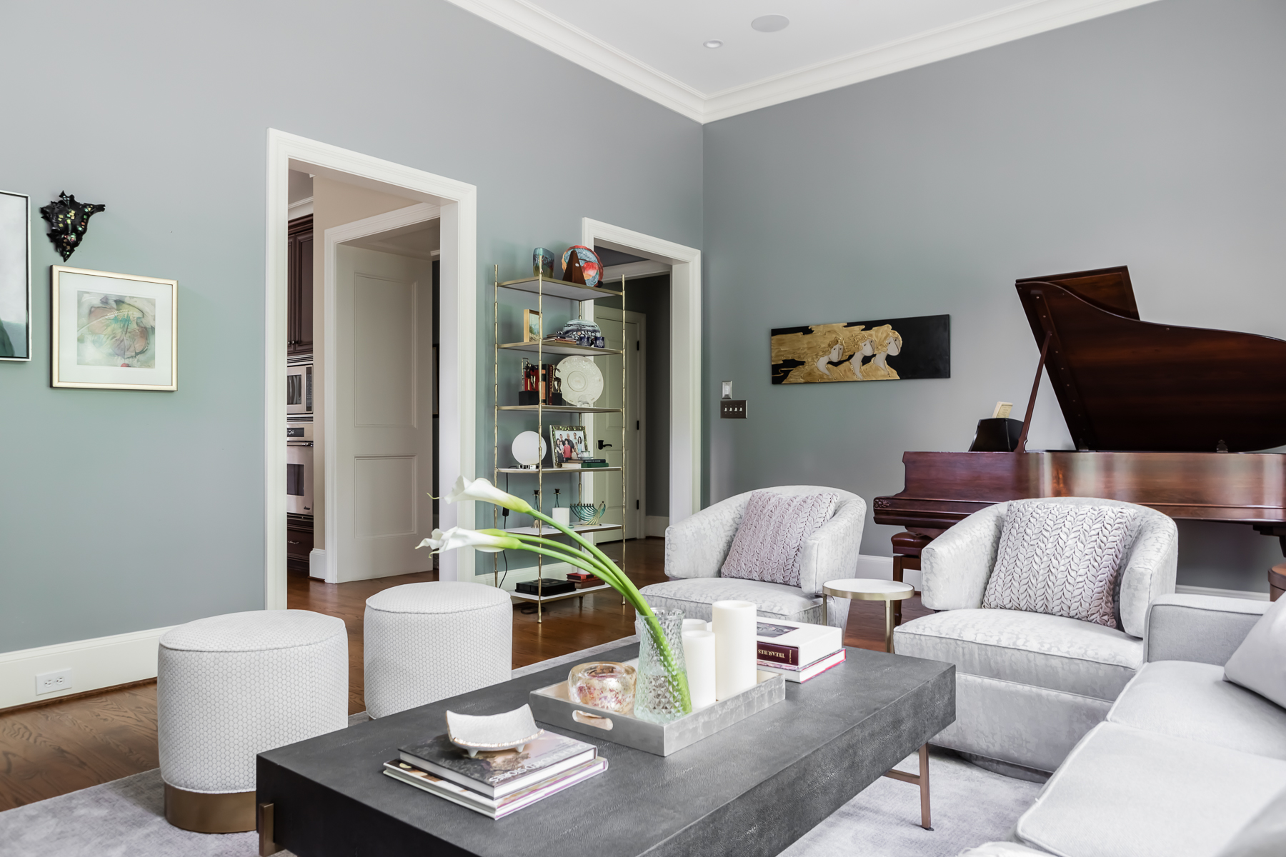 Modern Transitional Living Room Neutral Soft Colors