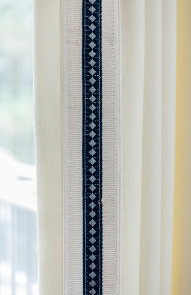Navy Decorative Tape Curtain Trim