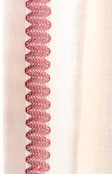 Red Decorative Tape Trim Custom Drapes