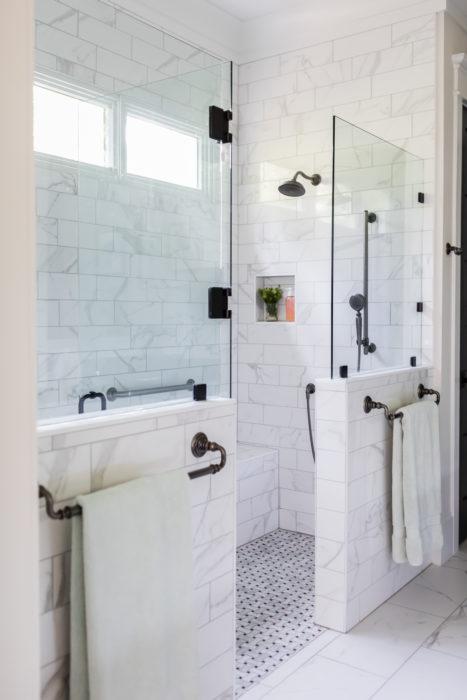 Zero Entry Flush Tile Floor Master Bath